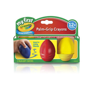 My First Crayola Scribbled Egg Crayons